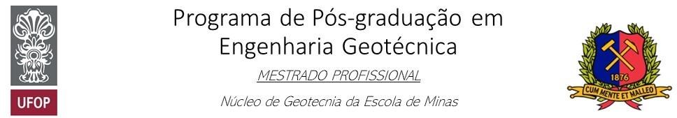 Programa de Pós-graduação em Engenharia Geotécnica